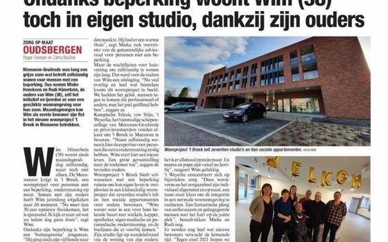 OUDSBERGEN - eerste bewoner in 't Broek, een project voor mensen met een beperking.